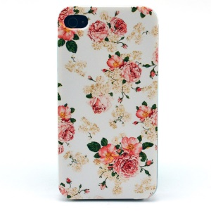 Blooming Peony Plastic Hard Cover for iPhone 4s 4