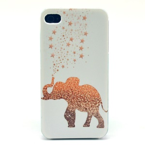 Stars & Elephant Plastic Hard Cover for iPhone 4s 4