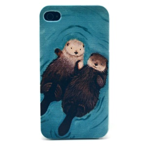 Two Squirrels Plastic Hard Shell for iPhone 4s 4