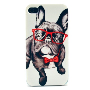 Dog in Red Tie Plastic Back Shell for iPhone 4s 4
