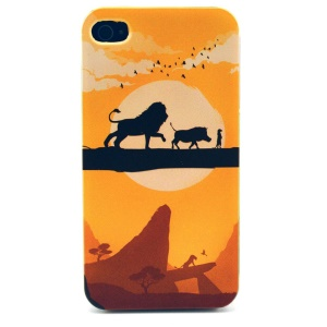 Sunset & Animals Plastic Back Case for iPhone 4s 4