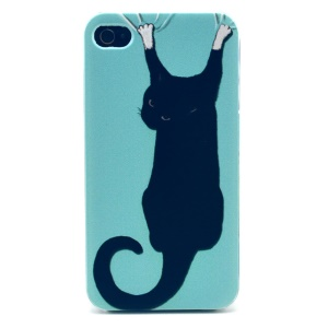 Climbing Cat Plastic Back Cover for iPhone 4s 4
