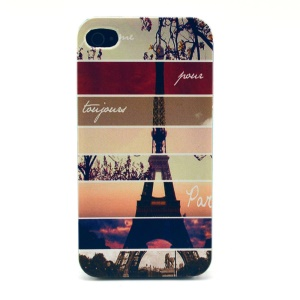 Eiffel Tower Plastic Back Cover for iPhone 4s 4