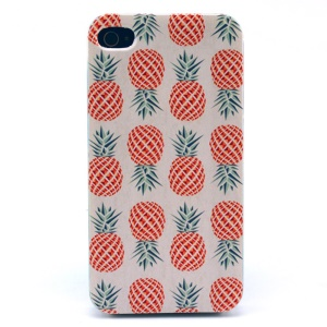 Pineapples Pattern Plastic Back Phone Shell for iPhone 4s 4