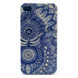 Mandala Pattern Plastic Back Phone Case for iPhone 4s 4