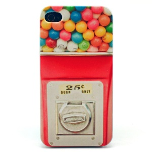 Rainbow Bubblegum Plastic Back Phone Case for iPhone 4s 4