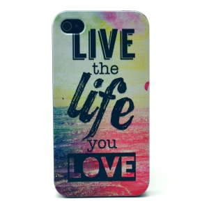 Live the Life Plastic Back Phone Cover for iPhone 4s 4