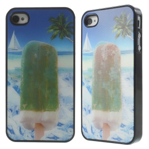 Dynamic 3D Effect Cool Popsicle Plastic Hard Shell for iPhone 4 4s