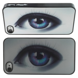Three Dimensional 3D Effect Soulful Eye Hard PC Case for iPhone 4 4s