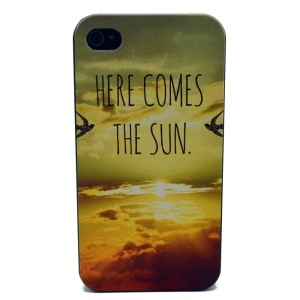 For iPhone 4s 4 Plastic Back Case - HERE COMES THE SUN