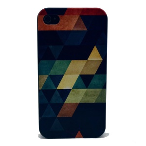 For iPhone 4s 4 Plastic Back Shell - Colorful Triangles