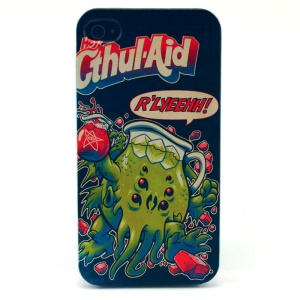 For iPhone 4s 4 Plastic Hard Shell - Cthul-Aid Pattern