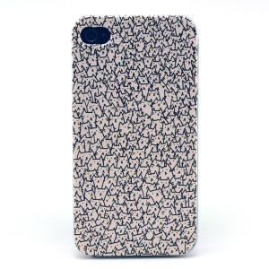 For iPhone 4s 4 Plastic Hard Case - Cute Cats Drawing