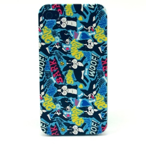 For iPhone 4s 4 Plastic Hard Cover - Dogs Pattern