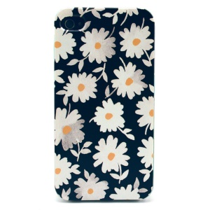 For iPhone 4s 4 Plastic Hard Back Case Shell - Daisy Pattern