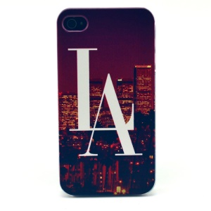 For iPhone 4s 4 Plastic Hard Shell - LA City Pattern