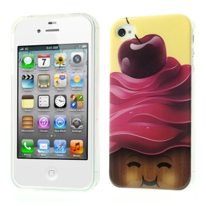 Fresh Cherry Glossy TPU Gel Cover for iPhone 4 4s