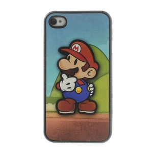 Super Mario Leather Coated TPU Case Shell for iPhone 4 4s
