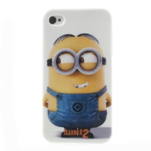 For iPhone 4 4S TPU Back Case Despicable Me 2 Minions Pattern