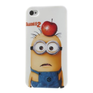For iPhone 4 4S TPU Shell Despicable Me 2 Apple Hanging over Minions