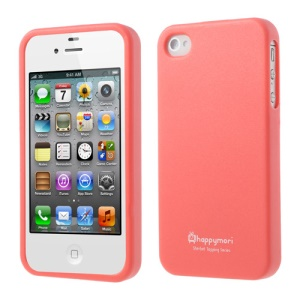 Happymori Solid Color Matte TPU Case for iPhone 4 4S - Watermelon Red