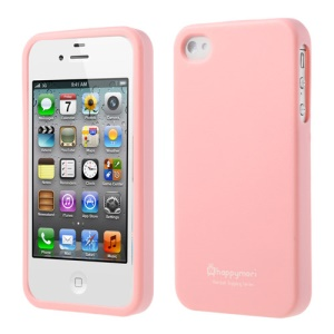 Happymori Solid Color Matte TPU Protective Shell for iPhone 4 4S - Light Pink