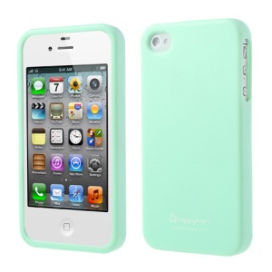 Happymori for iPhone 4 4S Solid Color Matte TPU Protector Case - Pale Green