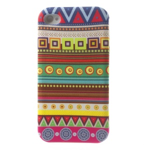 For iPhone 4s 4 Stylish Tribal Pattern Cloth Skin Soft TPU Gel Case