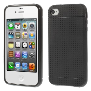 Dream Mesh Soft TPU Back Case for iPhone 4 4s - Black