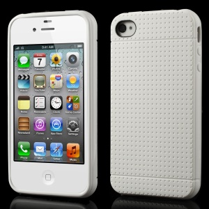 Dream Mesh Soft TPU Cover Case for iPhone 4 4s - White