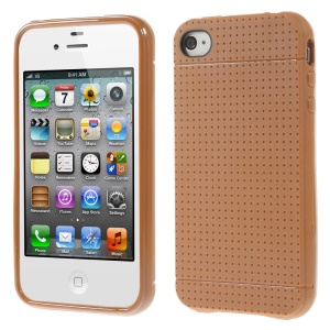 Dream Mesh Flexible TPU Shell for iPhone 4 4s - Orange