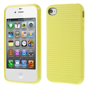 Dream Mesh Flex TPU Skin Case for iPhone 4 4s - Yellow