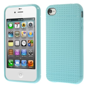 Dream Mesh Protective TPU Case for iPhone 4 4s - Light Blue