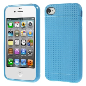 Dream Mesh TPU Cover Accessory for iPhone 4 4s - Dark Blue