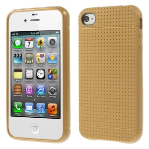 Dream Mesh TPU Gel Case Cover for iPhone 4 4s - Brown