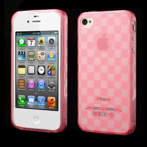 Unique Square TPU Case Shell for iPhone 4s 4 - Rose