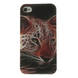 Neon Jaguar Pattern TPU Gel Shell for iPhone 4s 4