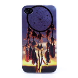 Protective TPU Gel Back Case for iPhone 4s 4 - Dreamcatcher in the Sunset