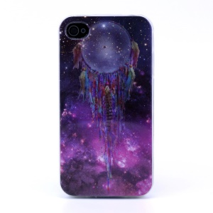 Protective TPU Skin Shell for iPhone 4s 4 - Dream Catcher in Starry Sky