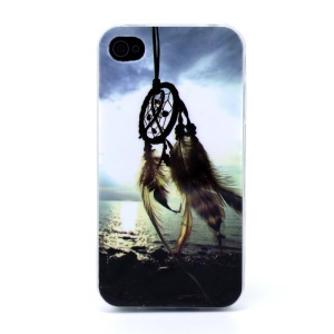 Protective TPU Gel Back Cover for iPhone 4s 4 - Dream Catcher & Sea