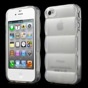 Transparent for iPhone 4s 4 Body Armor Design Soft TPU Skin
