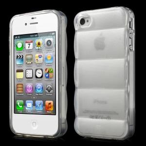 Transparent for iPhone 4s 4 Body Armor Design Soft TPU Skin