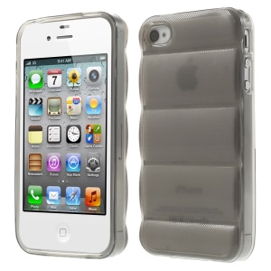 Grey for iPhone 4s 4 Body Armor Design TPU Skin Protector