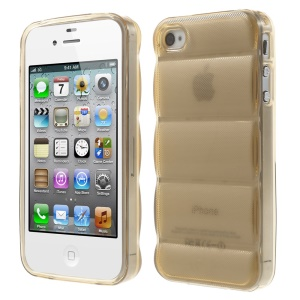 Champagne for iPhone 4s 4 Body Armor Design TPU Gel Shell
