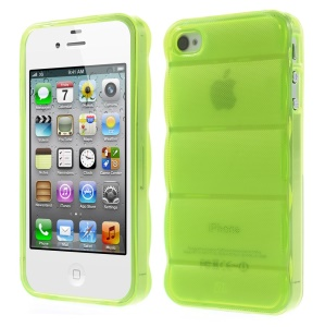Green for iPhone 4s 4 Body Armor Design TPU Gel Case Cover