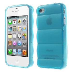 Blue for iPhone 4s 4 Body Armor Design Flex TPU Case Cover