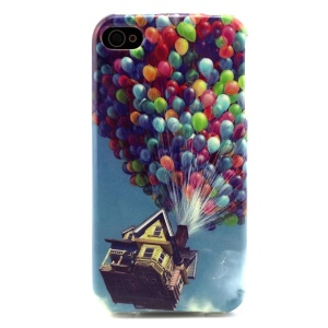 Castle in the Air with Colorful Balloons Soft TPU Case for iPhone 4 4s
