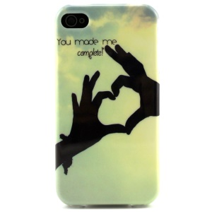 You Made Me Complete Soft TPU Cover Case for iPhone 4 4s