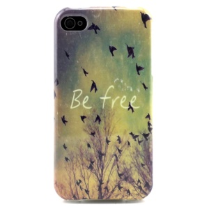 Be Free Wild Gooses Protective TPU Back Case for iPhone 4 4s
