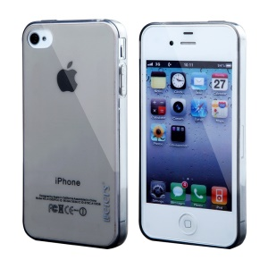 Leiers Thin Ice Series Soft TPU Case for iPhone 4s 4 - Transparent Black